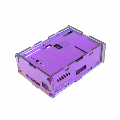 Pi-Case (Purple Mirror) for Model A & B