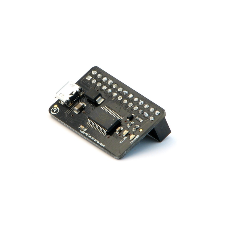 Usb console adapter for raspberry pi with pass through header