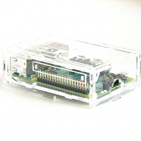 Pi-Case (Clear) for Model B+ & Pi 2 B