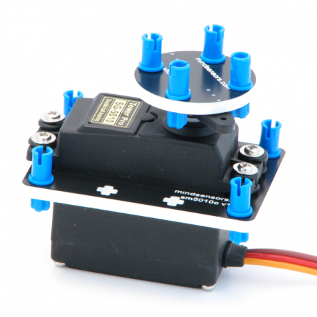 Continuous Rotation 47 Grams RC Servo with mounting kit for NXT or EV3