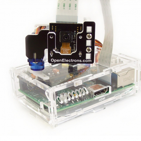 Pi-Pan, a Pan-Tilt Kit for Raspberry Pi Camera
