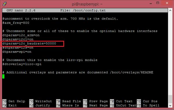change i2c speed with raspberry pi rh mindsensors com