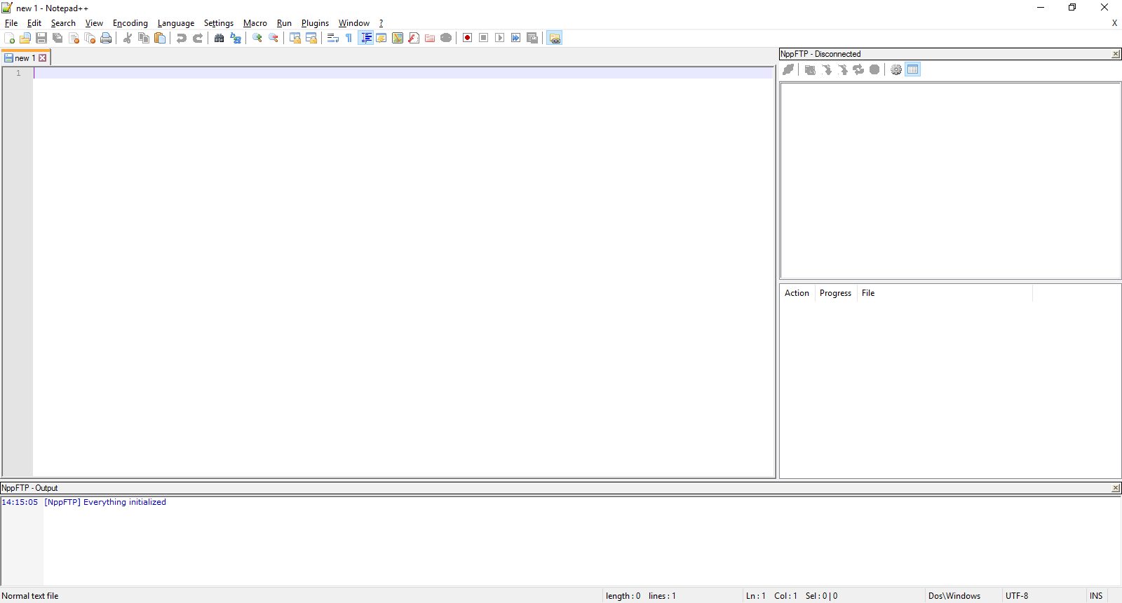 Notepad++ with Plugin in view