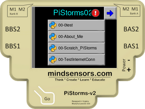 PiStorms with Exclamation icon