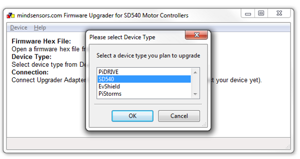 Select device SD540