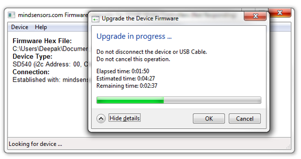 Wait for upgrade to finish