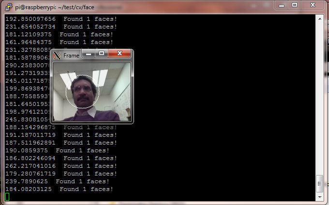 Raspberry Pi Face detection