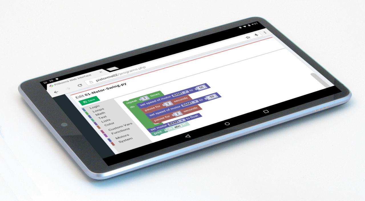 Program from Tablet