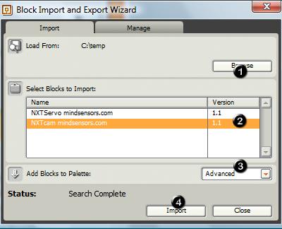 NXT-G Blocks - How to Install Blocks - mindsensors com