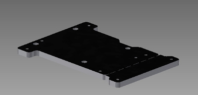 SmartUPS mount plate