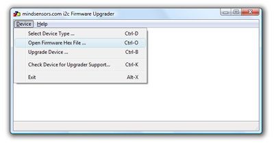Firmware Upgrader - select file