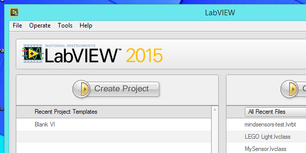 mindsensors toolkit for LabVIEW for LEGO MINDSTORMS 2015