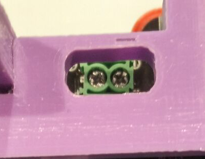 frame battery hole