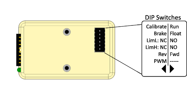 SD540 DIP Switches