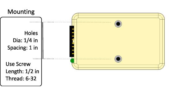 Mounting SD540 - screws size