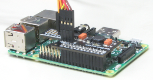 How PiPan board fits over the Pi